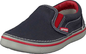 Crocs-Kids-Hover-Canvas-Navy-Grey-Red-Slip-on-Casual