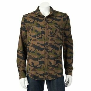 The-Ultimate-Flannel-Shirt-Mens-LT-Large-Tall-Aztec-Gray-Howling-Wolf-Olive-Camo