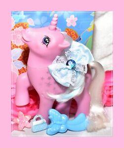 My-Little-Pony-MLP-G1-Vtg-Twice-as-Fancy-Unicorn-MILKY-WAY-amp-Original-Brush