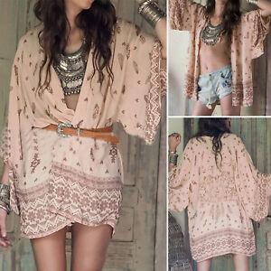 Womens-Chiffon-Floral-Kimono-Cardigan-Loose-Jacket-Coat-Beach-Cover-Up-Shawl-Top