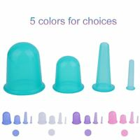 4pcs/set Health Care Body Anti Cellulite Silicone Vacuum Massager Cupping Cup Em