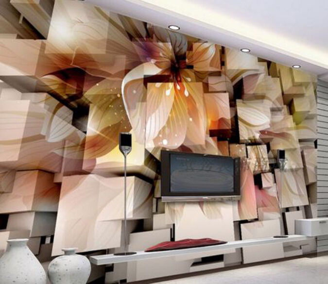 3D Modern Flowers 4349 Paper Wall Print Decal Wall Wall Mural AJ WALLPAPER GB