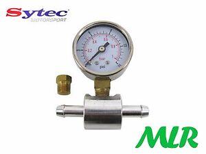 CARBURANTE-MANOMETRO-amp-8mm-adattatore-per-Pompe-REGOLATORI-DOPPIO-WEBER