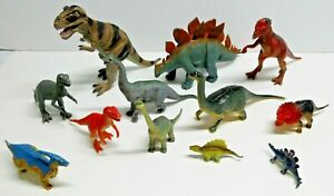 TOY-DINOSAUR-LOT-OF-12-RANDOM-SIZE-AND-CONDITION-CHINA