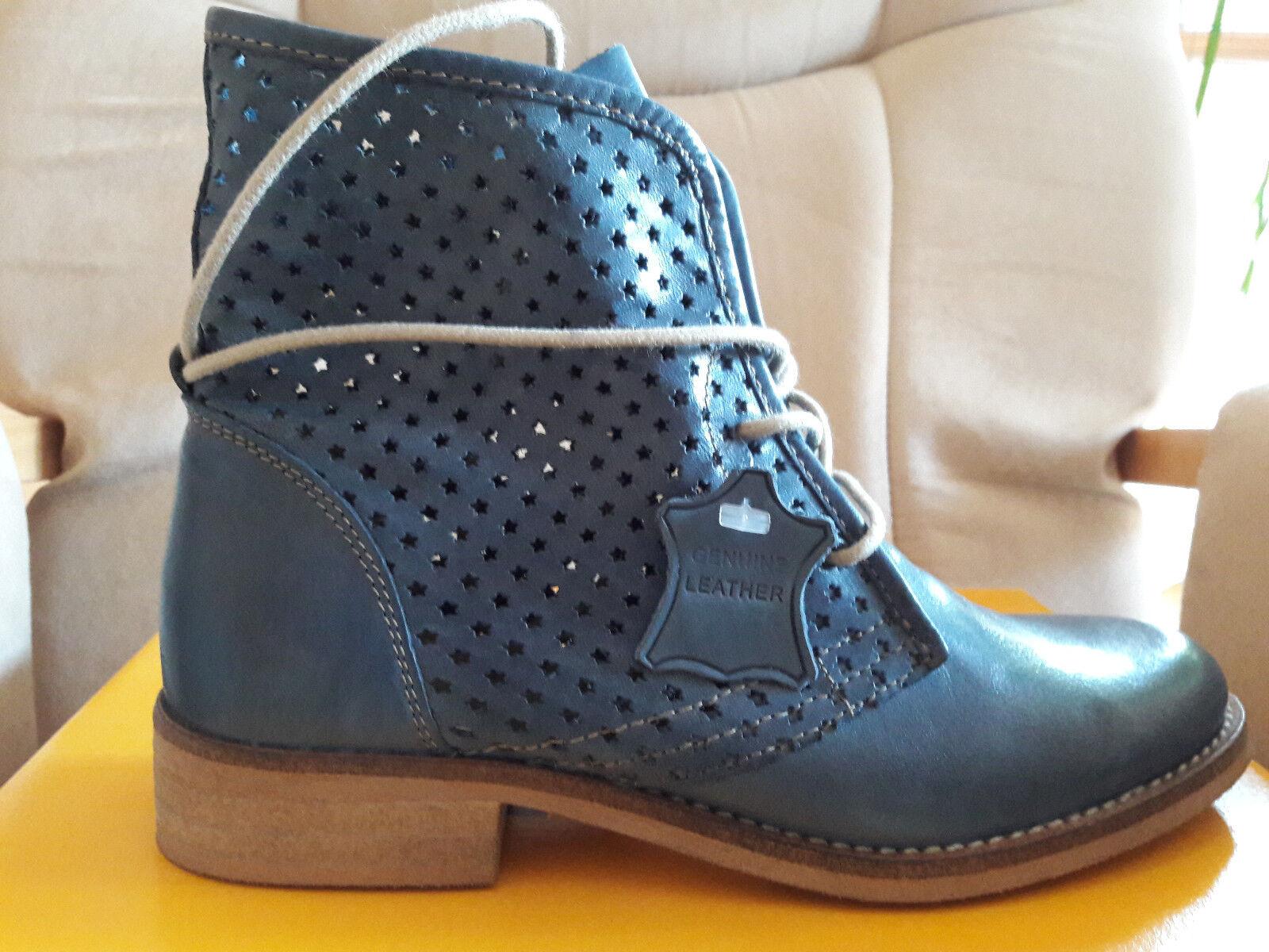 Stiefelette Stiefelette Stiefelette Damen, Echtleder, Größe 37, Farbe jeansblau, neu 1d6d52