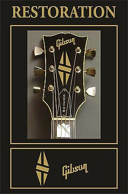 ADHESIVO PEGATINA STICKER DECAL AUTOCOLLANT GIBSON Headstock Restoration Guitar