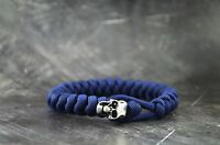Skull Paracord Bracelet - Blue