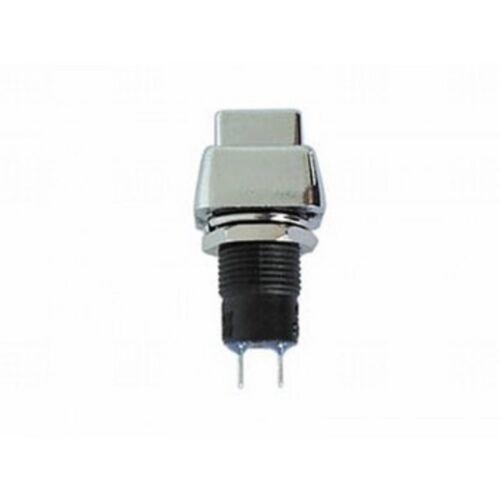 Interruptor de presión activado/desactivado, plata cromo, poligonal cabeza de metal 250v/3a, s79s