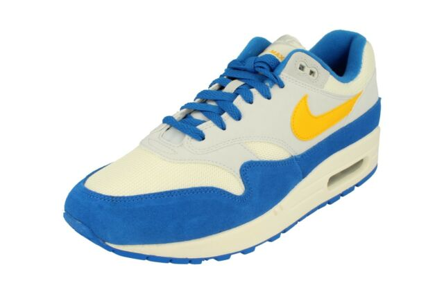 Details about Mens Nike Nike Air Max 1 OG AH8145108 White Blue Yellow