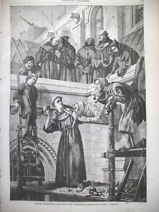COUVENT-MOINES-FRANCISCAINS-SCULPTEURS-DE-GARGOUILLES-Gal-BURNSIDE-GRAVURES-1862