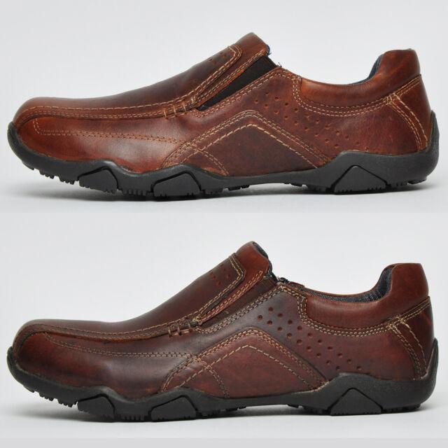 Red Tape Slaney Black Slip On Leather Mens Shoes Loafers
