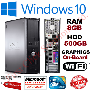 Rapide-Dell-Quad-Core-Ordinateur-PC-De-Bureau-Tour-Windows-10-Wi-Fi-8-Go-RAM-500-Go-Disque-dur