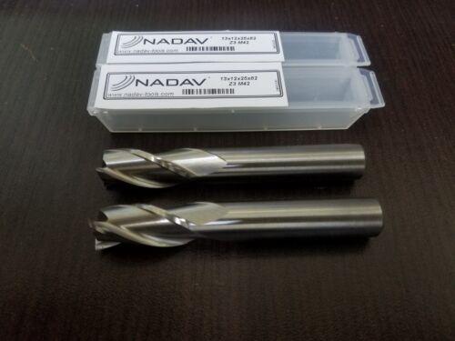 """NADAV™ 13mm .5118/"""" Lot of 2 Finish 13x12x25x82 Z3 M42 HSS-Cobalt"""