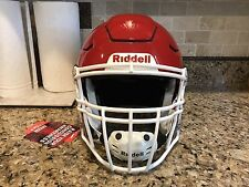 New listing Riddell Revo SPEED FLEX Football Helmet Red w/ White Facemask Adult Large