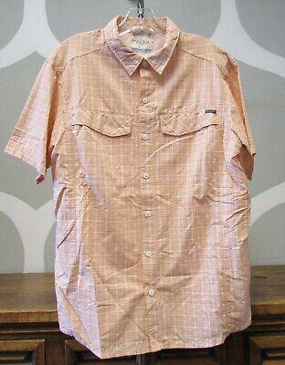 Columbia Mens Cool Creek Plaid Short Sleeve Shirt