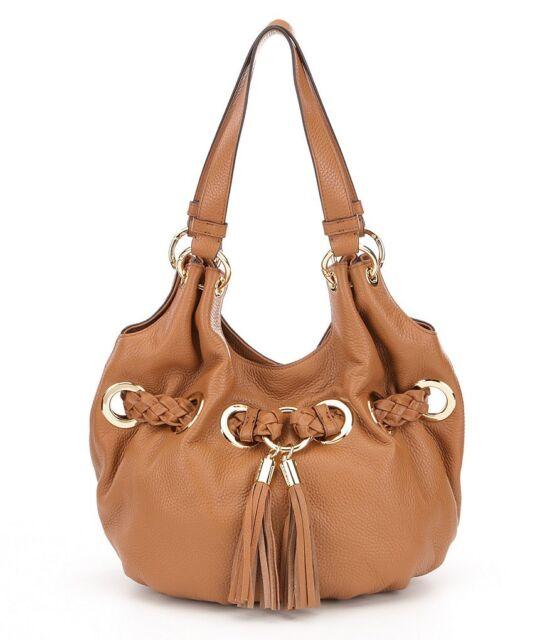 3c2d3884820e Michael Kors Braided Grommet Leather Large Shoulder Tote Bag Acorn  38s7gbgl. +. $199.99Brand New