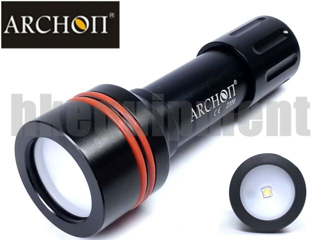 Archon D11V W17V Cree U2 Diving Photography Underwater Video Torch+18650+Charger
