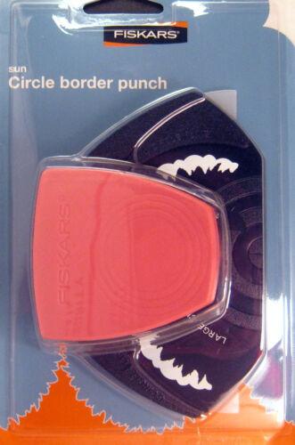 Fiskars SUN Circle Border Punch Scrapbooking  NIP