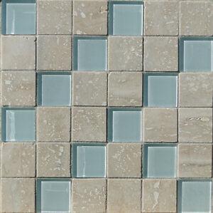 Das Bild Wird Geladen Marmor Mosaik Beige Mit Glas 30x30x0 8cm Naturstein