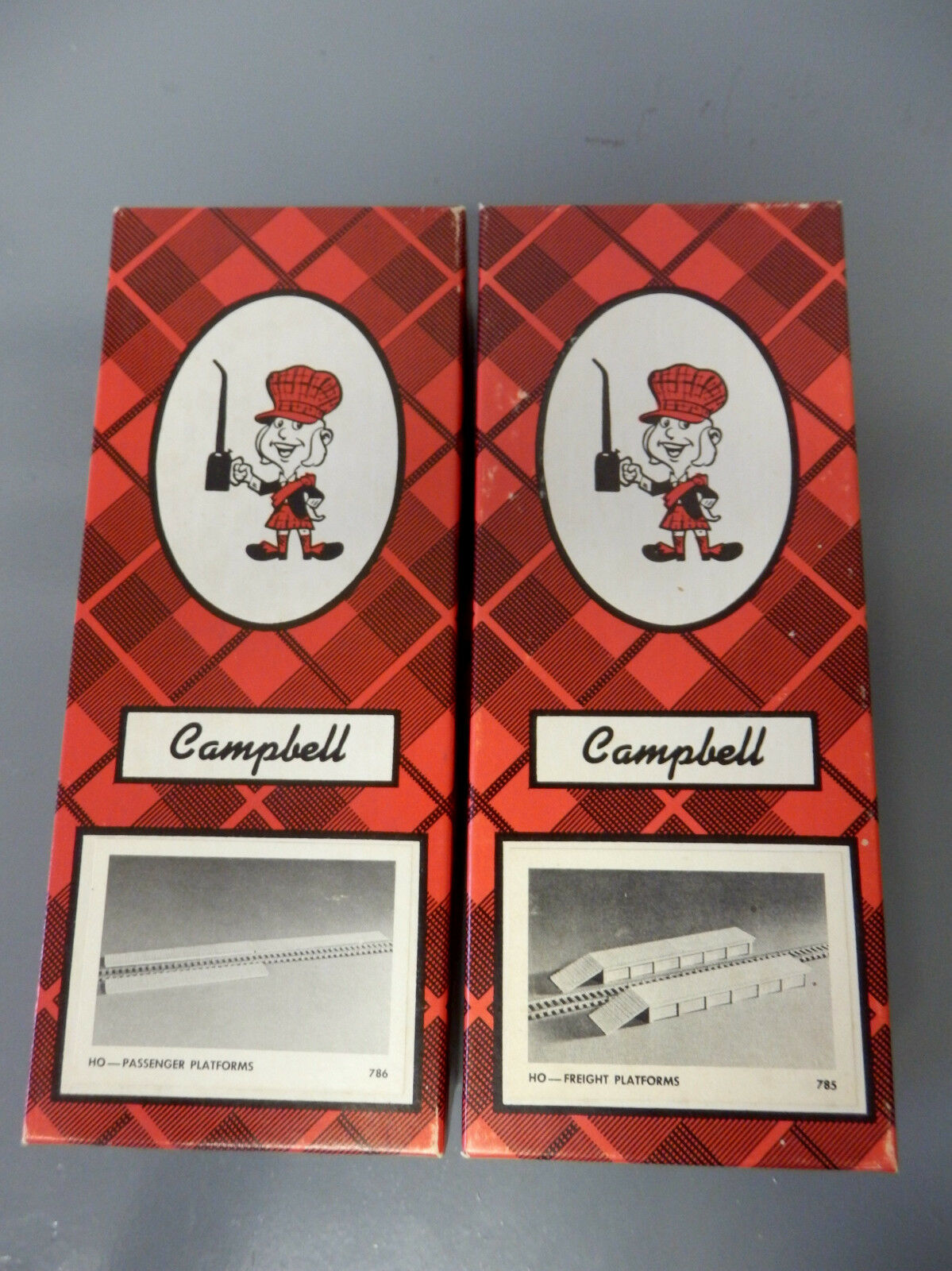 Campbell Californa Models  785 &  786 Freight Freight Freight & Passenger Platforms HO Balsaholz  | Mode-Muster  f912e5