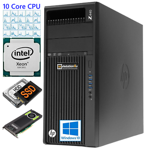 HP-Z440-Render-Workstation-E5-2650v3-Dual-Grafikkarte-S10000-Ram-64GB-SSD-512GB