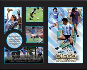 New Diego Maradona Signed Argentina Barcelona Napoli Limited Edition Memorabilia