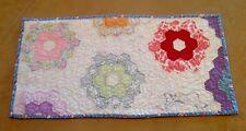 Vintage Patchwork Quilt, Flower Garden, Floral Calico Prints, 1930 Era, Pastels