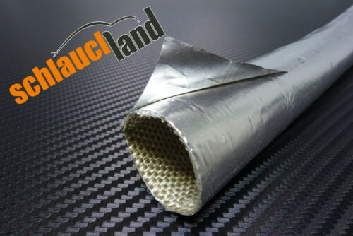 1m ALU-titane protection tuyau auto-adhésif ID 25mm *** chaleur protection tuyau LLK