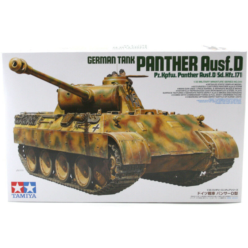 Tamiya Panther Ausf.D Model Set (Scale 1 35) 35345 NEW