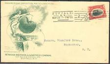 "1901 PAN-AM EXPOSITION ADV'T COVER ""HEYWOOD & WAKEFIELD Co"" BUFFALO, NY BT2980"