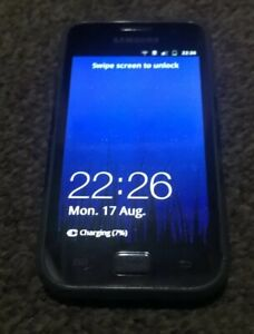 Samsung Galaxy Ace GT-5830-BLACK-3G-Mobile Phone with Leather Case. Black