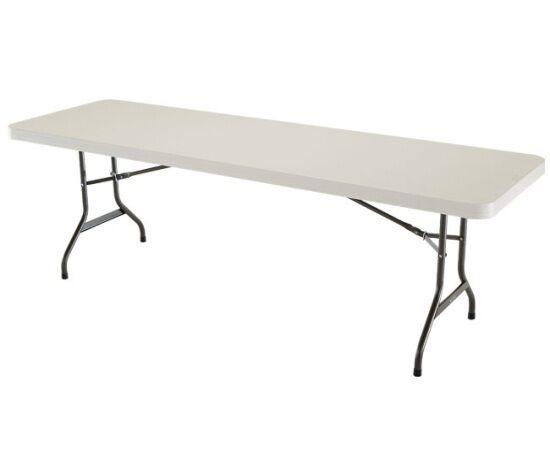 Superb Lifetime 42984 Folding Utility Table 8 Feet Almond Pack Of 4 | EBay