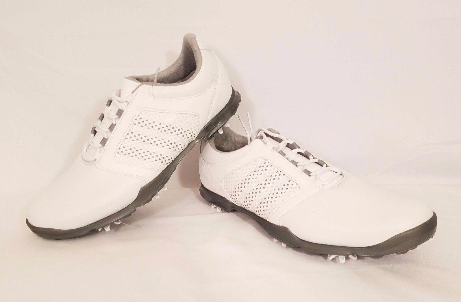 Adidas Adipure Tour Women's Golf Shoe White, Light Onyx, Iron Metallic Sz 9.5 Q