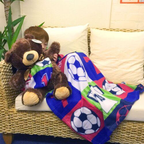 Soft Sleeves Pocket Fleece Kids Boys Girl TV Blanket Christmas Gift Snuggle Warm