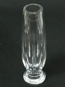 Wedgewood-Full-Lead-Crystal-Contemporary-Footed-Bud-Vase-Signed