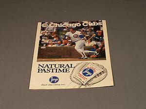Chicago-Cubs-1986-Program-Cubs-Vs-Montreal-EXPOS-Rare