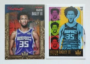 2018-19-Panini-Court-Kings-Lot-of-2-Marvin-Bagley-III-Parallel-Cards