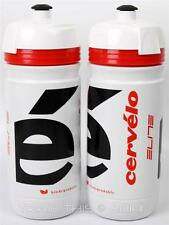 (2) Two Pack Elite Corsa Cervelo Pro Cycling Team Road Bike Water Bottles 550ml