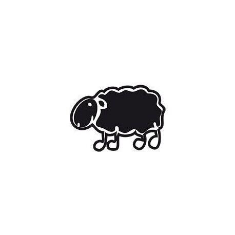 mouton couleur basque autocollant voiture rouge
