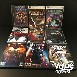 Lot-of-10-PC-Computer-CD-Games-Mass-Effect-Dungeons-Torch-light-amp-More