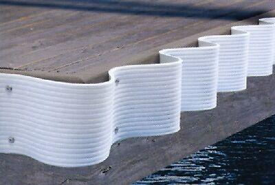 """Lunmar Boat Lifts 3.25/"""" White Dock Bumper W// Lip x 10/'"""