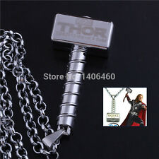 Marvel The Avengers Thor Thor's Hammer Mjolnir Pendan Necklace Movies Cosplay