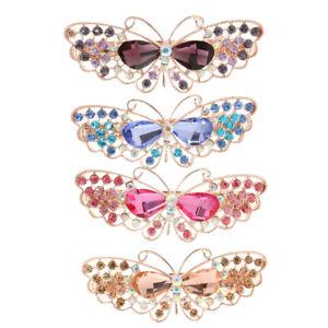 4-Pieces-Women-Girls-Crystal-Rhinestone-Butterfly-Hair-Barrette-Clip-Hairpin