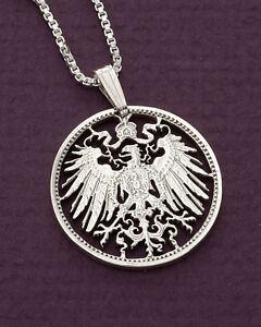 Silver-German-Eagle-Pendant-Silver-German-One-Mark-Coin-1-034-Dia-114S