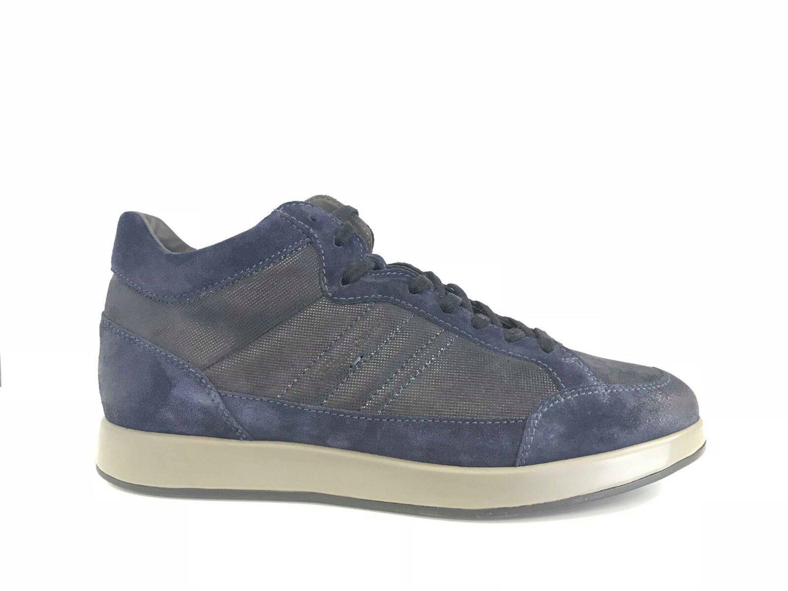 GRAN OFERTA Santoni hombre zapatos safari con cordones ante ante ante azul (135SU) 978036