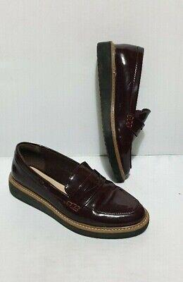 Flatform Loafers shoes Burgundy UK