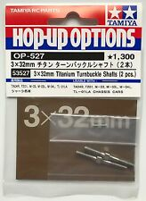 Tamiya 53527 3x32mm Titanium Turnbuckle Shafts (2 Pcs) (M03/M04L/TL01LA) NIP