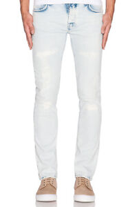 Nudie-Herren-Slim-Fit-Destroyed-Stretch-Jeans-Hose-Grim-Tim-Ripped-Sea