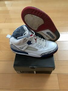 low priced 4ae87 fc6bc Image is loading 2007-Nike-Air-Jordan-Spizike-White-True-Blue-