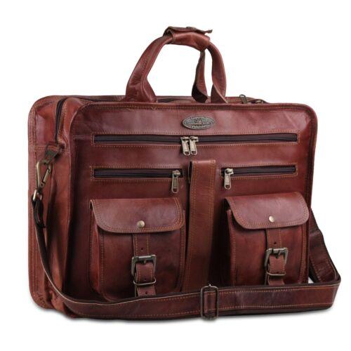 Genuine Leather Men/'s Briefcase Vintage Crossbody Business Messenger Laptop Bag